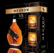 Meukow Cognac V.S. dárkové balení 2 x sklo    0,7L 40%