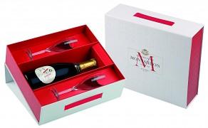 Montaudon Champagne Reserve Premiere Brut -  2 x sklenička dárková kazeta