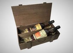 Plantation Original Dark & Plantation Pineapple Wood Box 2 x 0,7L