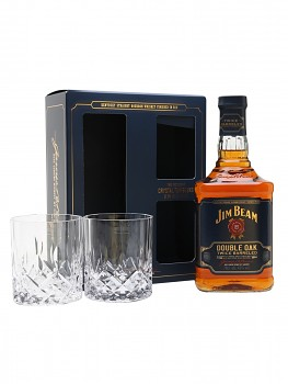 JIM BEAM DOUBLE OAK + 2xsklo 0.7l 43%