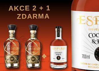 AKCE - KUP 2 LAHVE PLANTATION 20th Anniversary a dostaneš 1 x Espero Coconut & Rum  0,7L zdarma