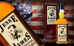 JESSE JAMES whisky - dárkový kartónek      0,7L 40%