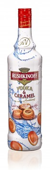 RUSHKINOFF VODKA & CARAMEL 1L 18%