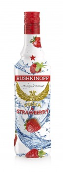 RUSHKINOFF VODKA & STRAWBERRY 1L 18%