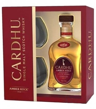 CARDHU AMBER ROCK + 2x SKLO 0,7l 40%